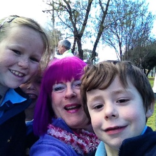 He said' I know how to do a selfie' Love the kids.